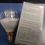 لامپ حبابی شفاف کملیون سرپیچ شمعی