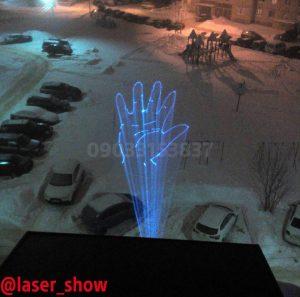 رقص نور لیزر سه بعدی